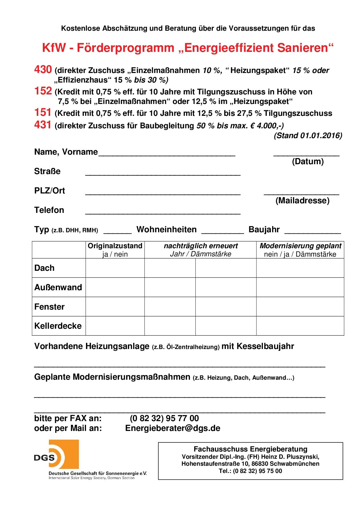 Kfw 152 liste der forderfahigen kosten